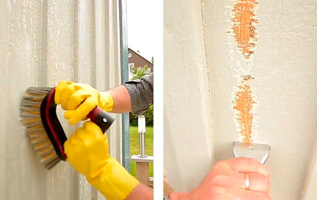 Förarbete måla hus