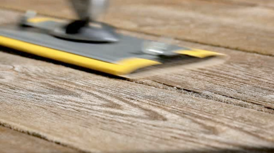 slipa altanen med slipverktyg