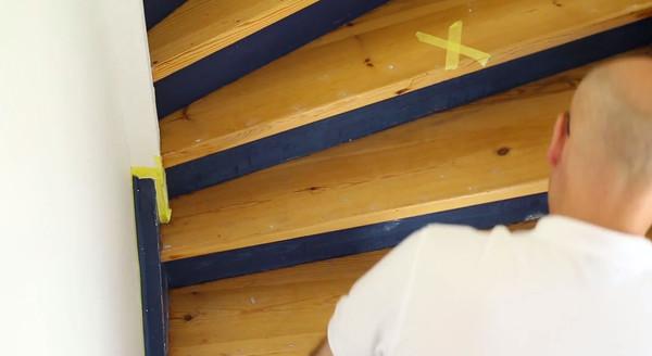 Märk trappstegen du inte ska måla