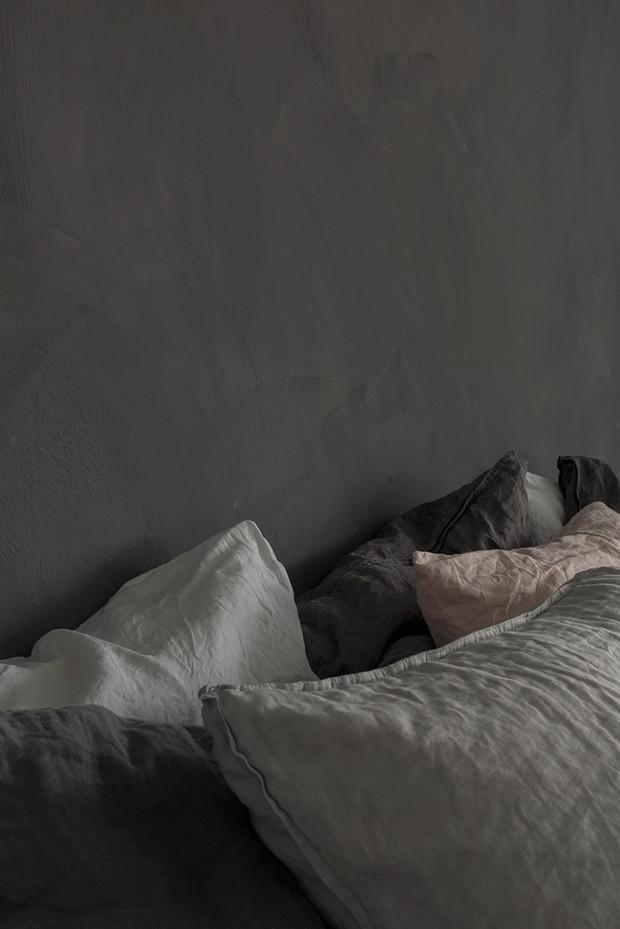 Kalkfärg i sovrum