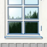 Platinum maskersingstejp på fönster