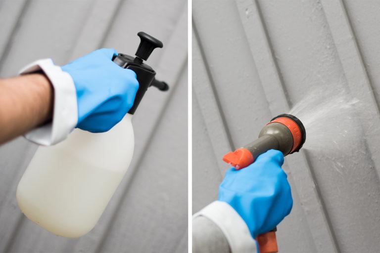 Tvätta fasad tryckspruta
