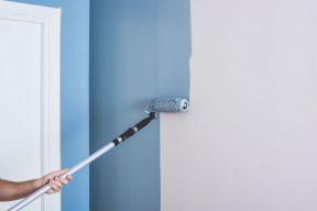 täckmåla väggen