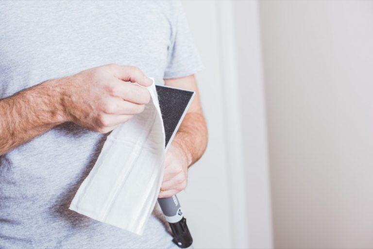 Använd engångstvätt innan du målar taket