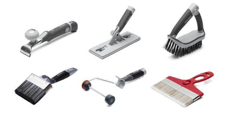 Anzas förlängningsskaft fungerar till flera produkter så som pensel, roller och slip.