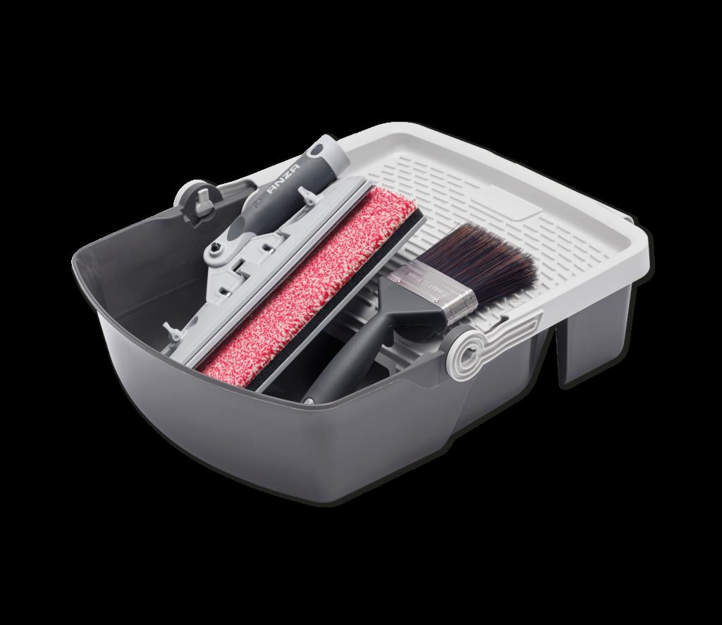 Altanverktyg, pensel och Fill&carry färgtråg