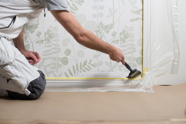 sparmåla innan måla vägg