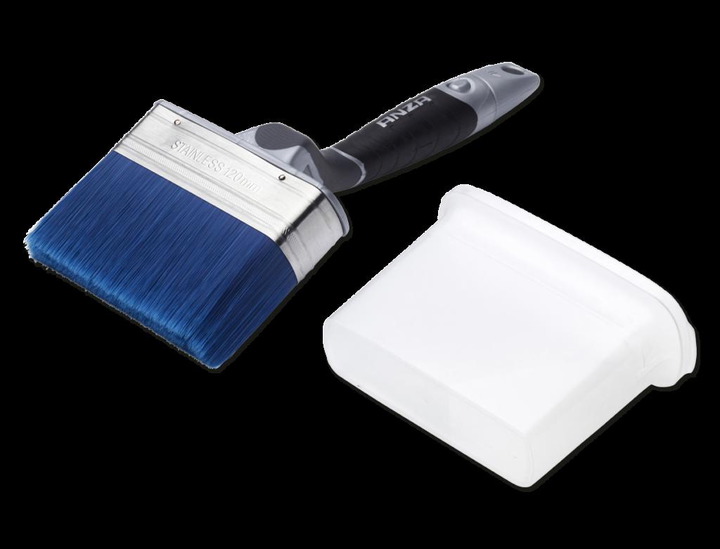platinum pro max stroke vinklad fasadpensel blå pensel