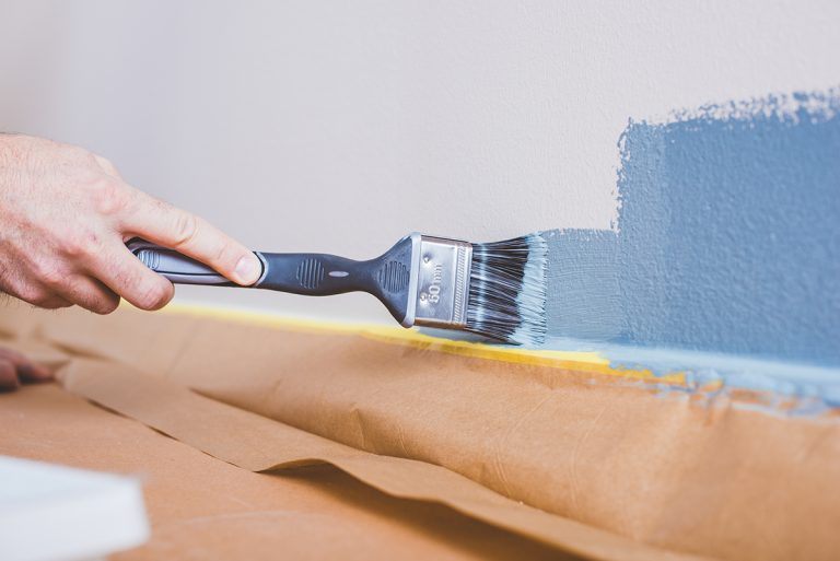 Måla vägg med Anza platinum pensel