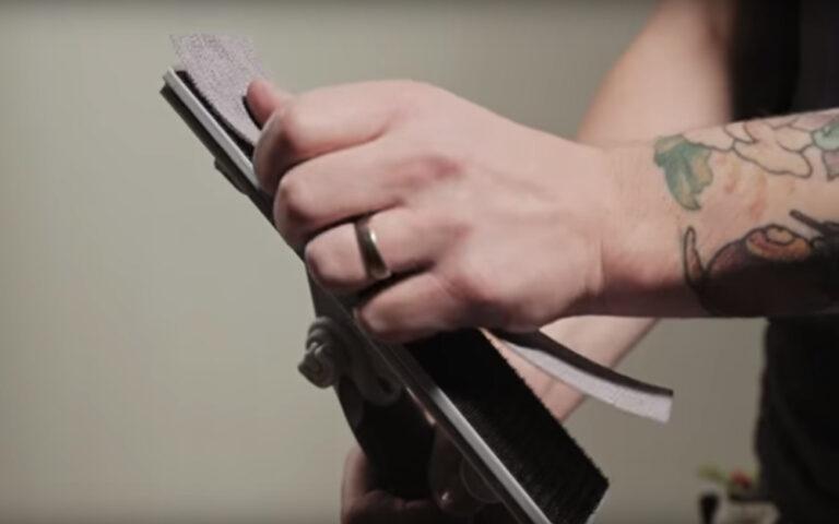 slippapper slipverktyg kardborre