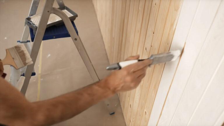 Måla panel snedställd lackpensel